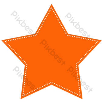 orange point stroke stars clipart PNG Images Template PSD