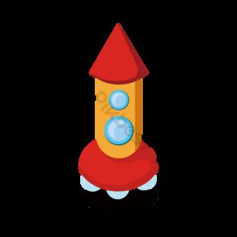 Clipart de fusée de l'espace extérieur Éléments graphiques Modèle AI