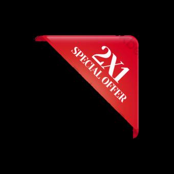 Etiqueta de promoción de la oferta especial de la esquina roja Elementos graficos Modelo PSD
