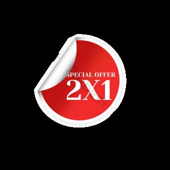 Pegatina Roja Oferta especial Etiqueta de promoción Elementos graficos Modelo PSD