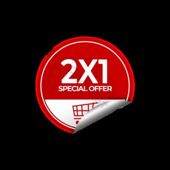 Tallo de promoción de la oferta especial de la etiqueta engomada blanca roja Elementos graficos Modelo PSD
