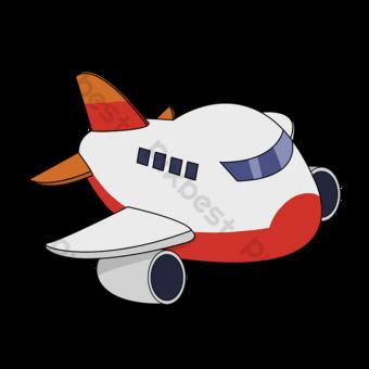 만화 장난감 비행기 클립 아트 일러스트 템플릿 PSD
