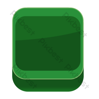 Marco cuadrado de sombra verde Elementos graficos Modelo PSD