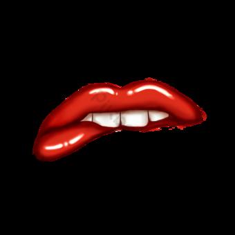 립 클립 아트 물린 치아 입술 빨간 입술 입술 애호가 애호가 일러스트 템플릿 PSD