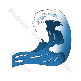 웨이브 클립 아트 물결 모양 파란 파란색 어두운 파란색 큰 파도 일러스트 템플릿 PSD
