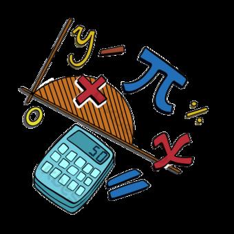 계산기 수학 클립 아트 수학 클립 아트 일러스트 템플릿 PSD