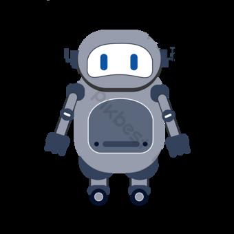 Dibujos animados gris robot clip art Elementos graficos Modelo PSD