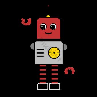 Detección industrial Robot Clip Art Elementos graficos Modelo PSD