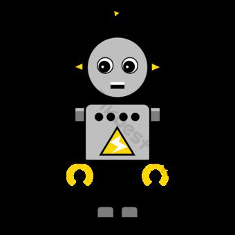 Con Clip Art Electric Robot Elementos graficos Modelo PSD
