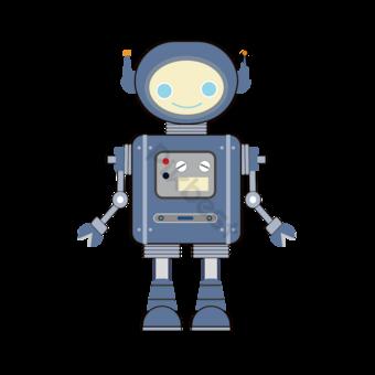 Dibujos animados inteligente azul robot clip art Elementos graficos Modelo PSD