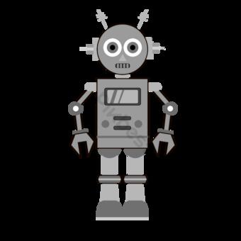 Clip art inteligente de robot gris Elementos graficos Modelo PSD