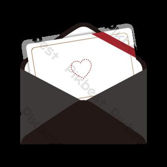 black senior invitation letter love letter clipart PNG Images Template AI