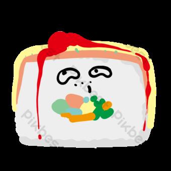 مجموعة الأرز المغشول مع صلصة الطماطم صور PNG قالب PSD