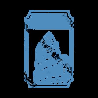 Sello azul Retro Punto escénico Elementos graficos Modelo PSD