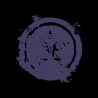 sello retro de sello púrpura Elementos graficos Modelo PSD