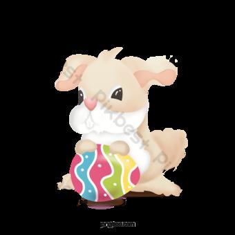 سعيد عيد الفصح بيضة الأرنب صور PNG قالب PSD