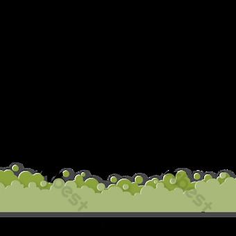 Éléments coupés en papier d'herbe verte Éléments graphiques Modèle EPS
