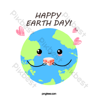 hand-drawn card in the humanized earth protection earth PNG Images Template PSD