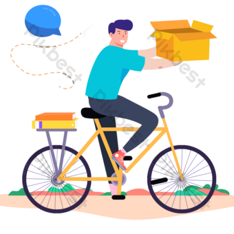 hand-drawn express bicycle diagram PNG Images Template PSD