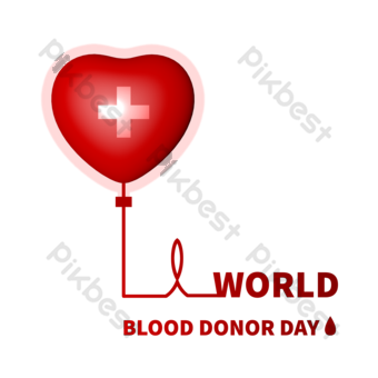 World donation day love blood donation PNG Images Template PSD