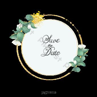 simple hand, eyali leaf, wedding border PNG Images Template PSD