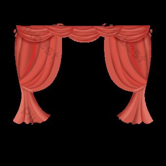 рисованной красный занавес иллюстрации элемент элемент окна комнаты Графические элементы шаблон PSD
