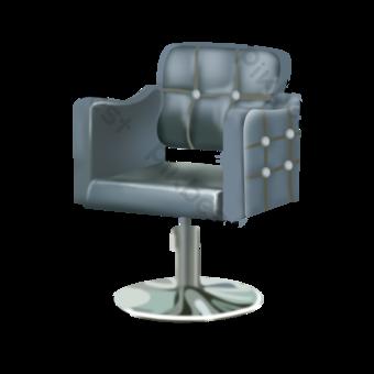 Black lifting leather seat hairdresser backrest chair illustration PNG Images Template PSD
