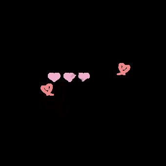 Dibujos animados dibujado a mano amor gracias buena fortuna Elementos graficos Modelo EPS