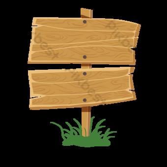 Señal de tráfico de madera marrón claro Elementos graficos Modelo PSD