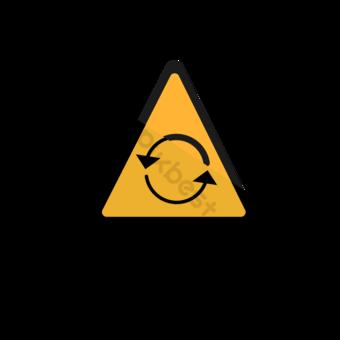 Reglas de tráfico amarillo logo Elementos graficos Modelo EPS