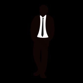 خيال من الذكور صورة ظلية الجيب الدائمة الموقف صور PNG قالب EPS