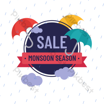 drawing minimalist design season sales style PNG Images Template PSD