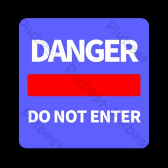 Señal de tráfico de cartas inglesas blancas en cuadrado azul Elementos graficos Modelo PSD