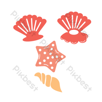 svg drawing beach seashell decorative pattern PNG Images Template EPS
