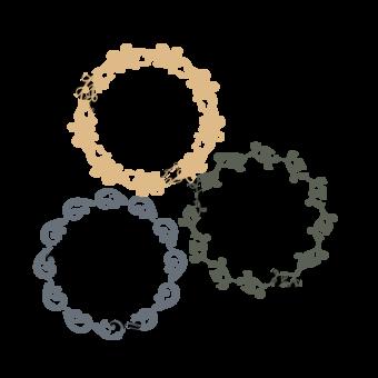 Garlands simples Frontera de flores SVG Elementos graficos Modelo EPS