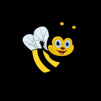 꿀벌 클립 아트 만화 귀여운 벡터 비행 꿀벌 만화 마스코트 일러스트 템플릿 AI