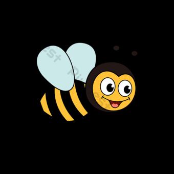 꿀벌 클립 아트 귀여운 만화 꿀벌 마스코트 그림 벡터 일러스트 템플릿 AI