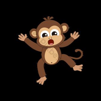 만화 벡터 원숭이 클립 아트 놀된 식 그림 삽화 원숭이 클립 아트 일러스트 템플릿 AI