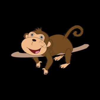 만화 컷된 그림 귀여운 벡터 일러스트 레이 션 원숭이 재생 재료 쪼개는 재료 쪼개는 것처럼 원숭이 클립 아트 일러스트 템플릿 AI