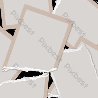 Papel rasgado de color simple foto Elementos graficos Modelo PSD