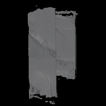 Papel gris sentido retro hacer una vieja cinta plisada Elementos graficos Modelo PSD