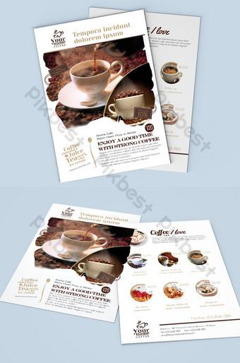 Téléchargement de la carte des desserts au café simple Modèle PSD