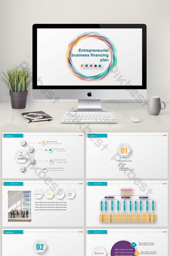 Financial management venture investment roadshow project financing PPT template PowerPoint Template PPTX