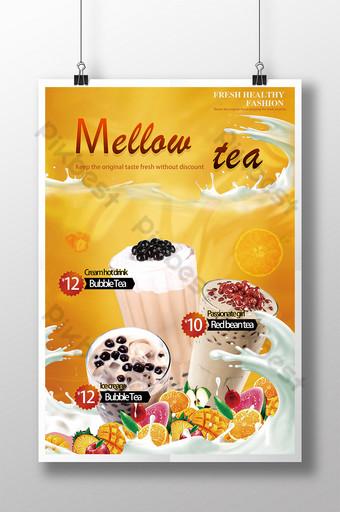 poster quảng cáo trà sữa Bản mẫu PSD