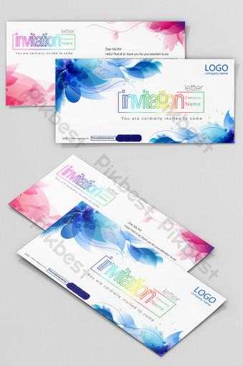 Modèle de conception de carte d'invitation créative de mode Modèle PSD