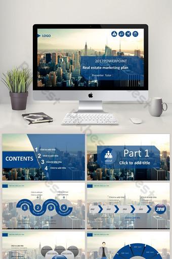 Modèle PPT dynamique de livre de plan de marketing immobilier PowerPoint Modèle PPTX