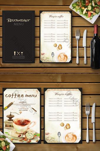 Téléchargement de la carte des desserts au café Modèle PSD