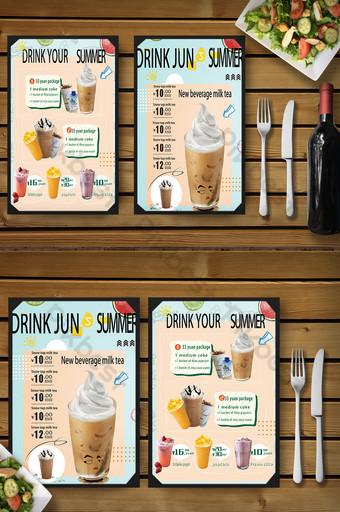 tienda de bebidas frescas diseño de menú gourmet Modelo PSD