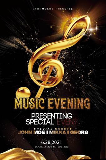 Disenyo ng template ng poster ng party ng musika Template PSD
