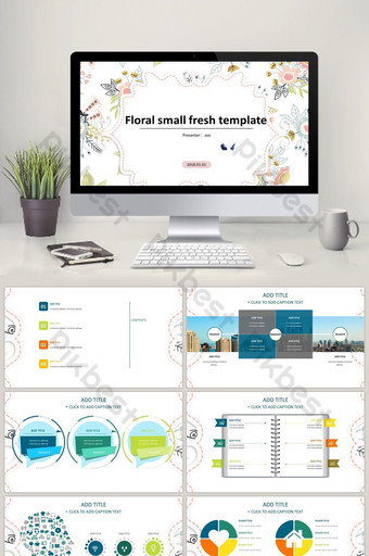 Maliit na sariwang unibersal na template PowerPoint Template PPTX